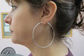 ear hoops items similar to 2 pairs large silver plated ear wire hoops