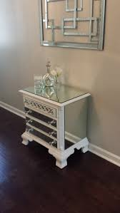 furniture mirrored nightstands with glamour style