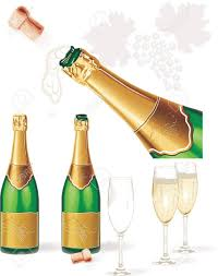 champagne bottle outline detailed vector champagne bottle glasses cork royalty free