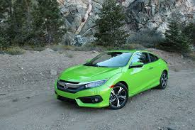 honda civic 2016 coupe 2016 honda civic coupe touring one week review automobile magazine