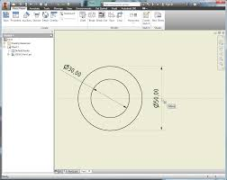 turn diameter dimension to linear dimension in inventor drawing