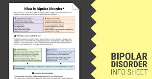 bipolar disorder info sheet worksheet therapist aid