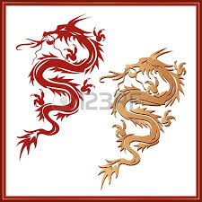 illustration of golden dragon in the asian style royalty free