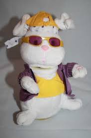 Singing Stuffed Animals Gemmy Hip Hop Rappers Delight Bunny Rabbit Plush 8 Singing