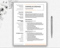 2 Page Resume Sample by One Page Resume Etsy