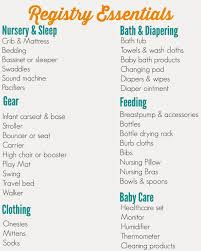 bridal registry ideas list baby shower gift registry list wblqual