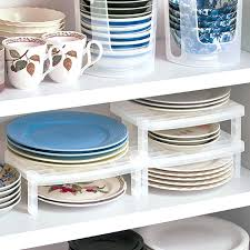 dish organizer for cabinet plate organizer for cabinet exmedia me