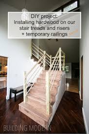 Installing Hardwood Flooring On Stairs Foyer Stairs Installing Hardwood Flooring On The Platform
