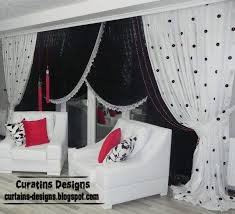 Black And White Curtain Designs Black And White Living Room Curtains 10 Image