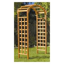 Arbors Trellises Greenstone Natural Arch 7 Ft Wood Arbor Hayneedle