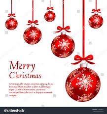 card red christmas ornaments vector illustration stock vector