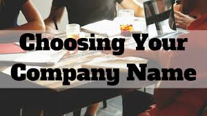 choosing your company name start up tips youtube