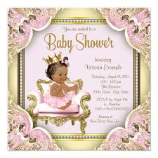 princess baby shower american princess baby shower invitation zazzle