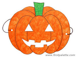 pumpkin mask o lantern mask craft kids crafts firstpalette