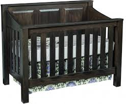 beautiful solid wood cribs amish made organic grace