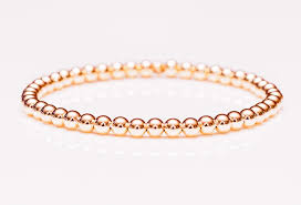 rose gold womens bracelet images 14k rose gold bead stretch bracelet 3mm 6mm womens and mens jpg