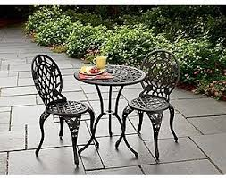 Cast Iron And Aluminum Bistro Set Traditional Patio Furniture - Outdoor iron furniture