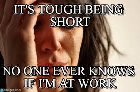 Short Memes - it s tough being short first world problems meme on memegen
