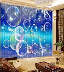 bulle chambre 3d rideaux mode personnalisé bleu ciel bulle fenêtre rideaux pour