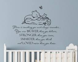 Classic Winnie The Pooh Nursery Decor Winnie The Pooh Wall Decal Etsy