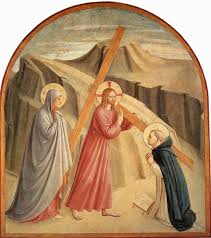 christ carrying the cross by fra angelico awesome art