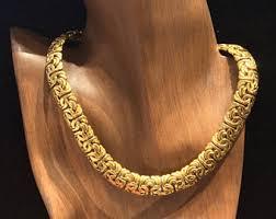 byzantine gold necklace images Byzantine gold chain etsy jpg