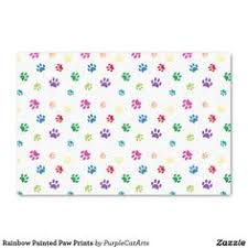 paw print tissue paper rainbow painted paw prints thank you card thank you cards paw