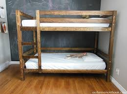 Hand Made Bunk Beds by Building A Bunk Bed Our Home Notebook