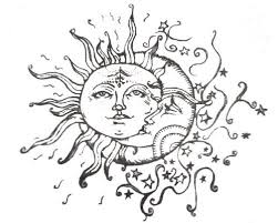 and sun moon tattoos designs idea
