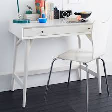 Mid Century Desk Mid Century Mini Desk White West Elm Au