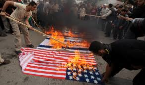 American Flag Burning Thousands In Iran Burn U S Flags Condemn Nuclear Talks United