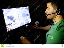 man playing video game dark room stock photos images u0026 pictures