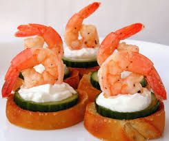 canape recipes marinated shrimp canapes recipe genius kitchen