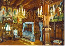 king ludwigs castle neuschwanstein royal bedroom i loved this