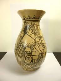Antique Ceramic Vases Vintage Handmade Native American Laguna Polychrome Pottery Bowl