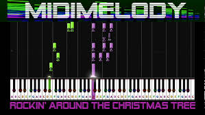 rockin u0027 around the christmas tree piano tutorial youtube