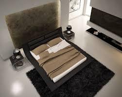 Black King Platform Bed Wave King Size Modern Design Black Leather Platform Bed Ebay