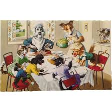 Dogs At Dinner Table Mainzer Dogs And Cats No Fighting At The Dinner Table From