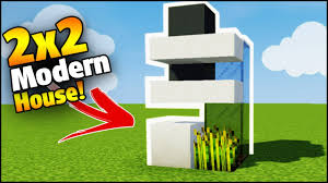 minecraft 2x2 modern house tutorial how to build a house in