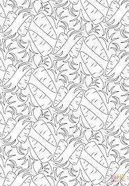 carrot pattern coloring page free printable coloring pages