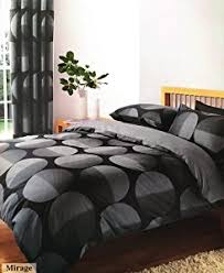 Duvets And Matching Curtains Black U0026 Grey King Size Duvet Set With Matching Curtains 66 X 72