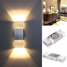 modern 2w led wall light up down lamp sconce spot lighting home