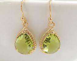 peridot earrings peridot earrings etsy
