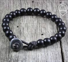 black prayer bracelet images Handmade leather beaded mala style bracelets by sol creations jpg
