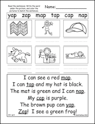 bunch ideas of reading cvc words worksheets on summary