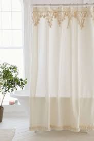 Urban Outfitters Waterfall Ruffle Curtain by Topanga Fringe Shower Curtain Urban Outfitters Bath