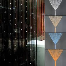 The Home Decor by Beaded String Curtain Door Divider Crystal Beads Tassel Screen