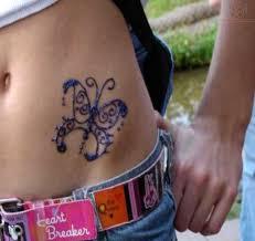glitter butterfly on hip