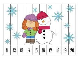 freebie 6 winter number order puzzles winter resources for
