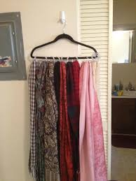 How To Hang Scarves On Curtain Rods by Organize Your Closet By Using Shower Curtain Hooks Huffpost